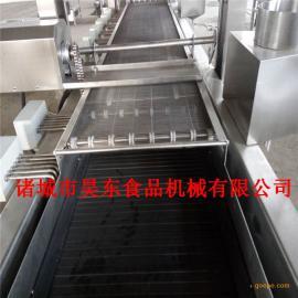 全自动豆虫油炸机 多功能豆虫油炸流水线