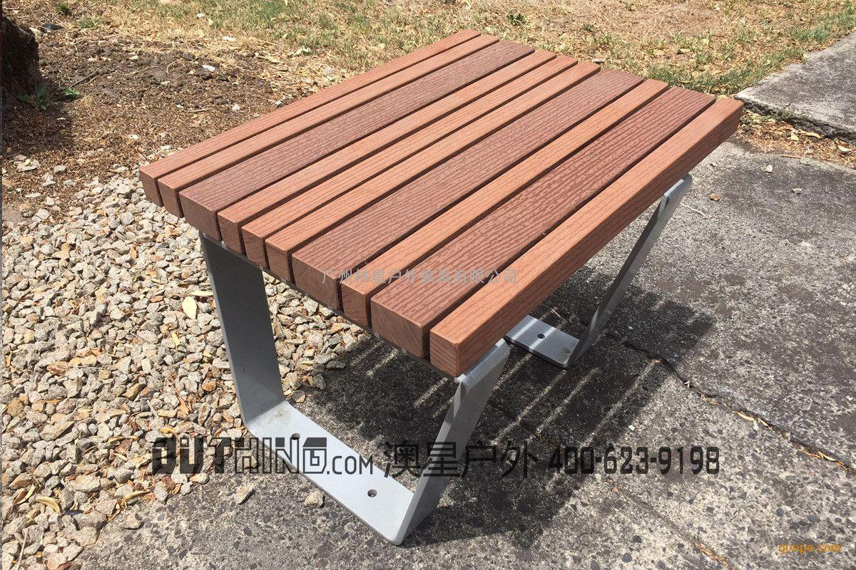 市政园林景观配套户外长凳 钢结构实木定制特色坐凳3531