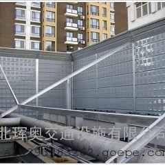 山东冷却塔声屏障_冷却塔隔音墙_楼顶空调冷却塔安装隔音墙