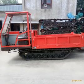 窄体履带运输车 农地运输履带自卸车