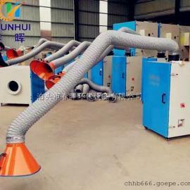 河北移动单双臂焊接烟尘净化器内置两个滤筒生产率