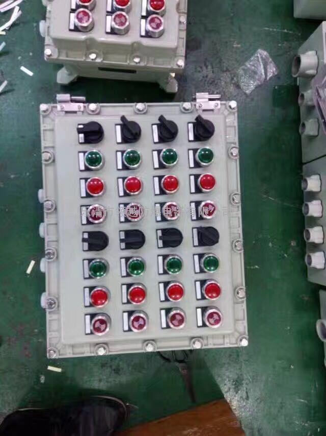 防爆电器控制箱主要技术参数   防爆标志:Exd II BT6、Exd II CT6   额定电压:380/220V   额定电流:1——400A   使用类别:AC、AC3   防腐等级:WF1   进线口螺纹:G13——G100   BXK防爆控制箱   防爆电器控制箱产品特点   适用于控制多台电动机,也可作为照明或仪表配电。   钢板焊接制造而成,表面喷塑。   内装电器元件可根据用户要求特制。   可在箱面操作或远程操作,也可两地操作。