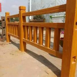 水泥仿木护栏【图】 水泥防腐木栏杆