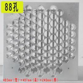 油烟净化器电场蜂窝电场配件镀锌等离子圆筒电场88 110孔