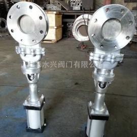 DMZ673H/X/F/W不锈钢气动暗板刀型闸阀(浆液阀)