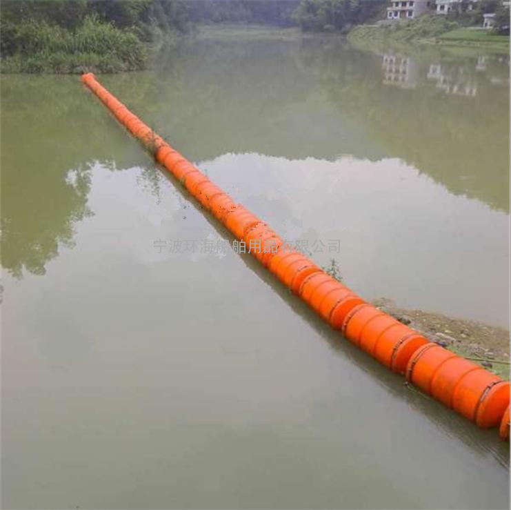 塑料水域拦污网浮体 塑料浮筒 拦污浮排