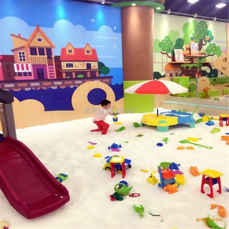 儿童沙池娱乐白沙子 幼儿园沙坑黄色沙子 天然圆粒海沙图片