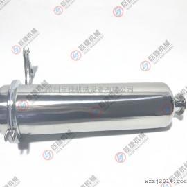卫生级快装直通过滤器 不锈钢管道直通过滤器 304过滤器