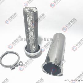 带滤网不锈钢过滤器 304管道过滤器 卫生级快装过滤器