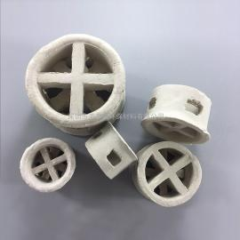 38mm石油化工环保塔器吸收解吸萃取除尘填料陶瓷阶梯环耐高温