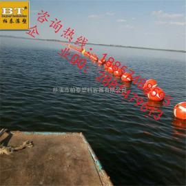 PE材质水上标识浮球 航道定位浮漂徐州厂家直销