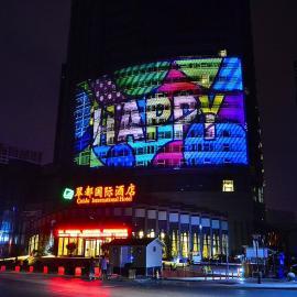 c专业商业广场广告投影-深圳都市巨影投影机