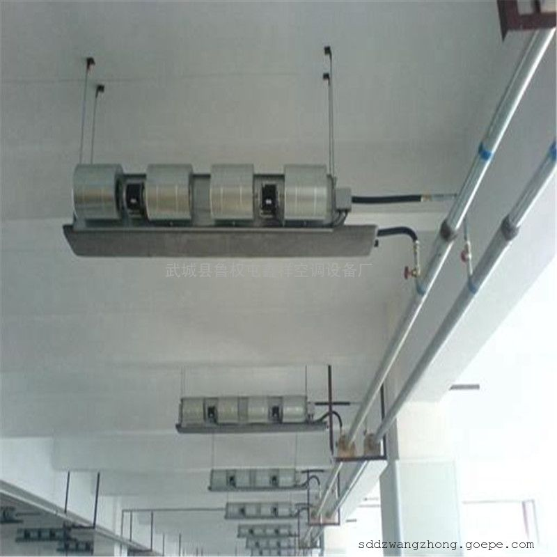 鑫祥卧式暗装风机盘管机组的尺寸及原理