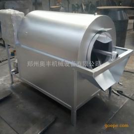 电加热炒货机价格 自动滚筒炒锅 花生菜籽炒料机