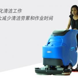 大型手推式洗地机什么品牌好双刷擦地吸水车