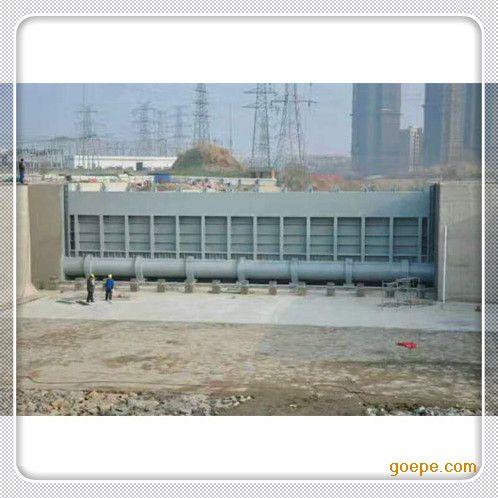 北京液压钢坝版次闸门安装调试成功