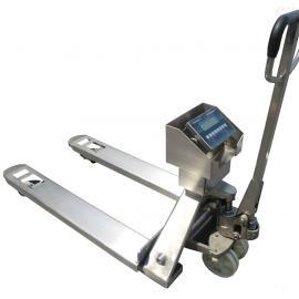 2t防水防腐蚀电子叉车称 2吨不锈钢地牛秤价格