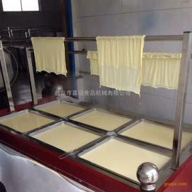 小型腐竹油皮机多少钱 豆油皮机简单易学
