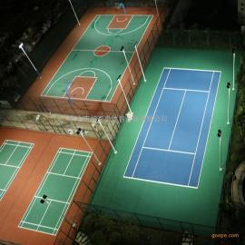 佛山户外篮球场灯光耗电情况 篮球场电杆高度 电杆安装施工方案