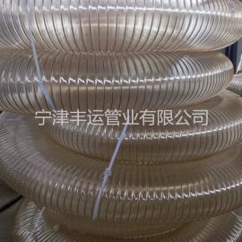 PU弹性钢丝管 木工吸尘管 防静电吸尘管 木屑集尘管