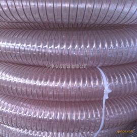 扫地车吸尘管清扫车吸污管PU耐磨钢丝螺旋管