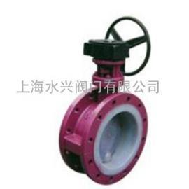 D341F46-6C蜗杆传动衬氟蝶阀