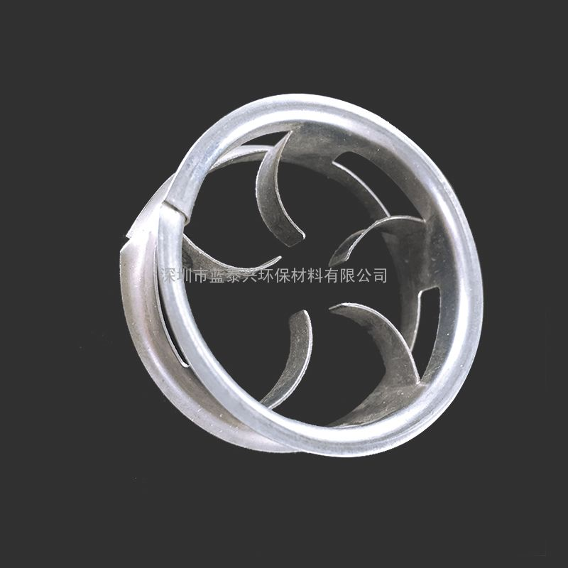 广东深圳化工厂填料16mm吸收汽蒸蒸馏塔应用氯碱不锈钢阶梯环