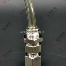快插气源接头 尼龙管快插直通 不锈钢隔板卡套直通 304气源接头