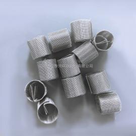 6mm不锈钢丝网Q形环实验室精馏塔高纯度产品分离填料