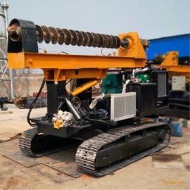 山东新型太阳能光伏电履带式打桩机工程打桩机