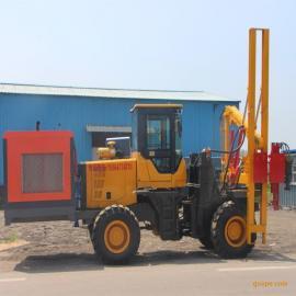 装载式护栏打桩机公路打桩机新型液压锤打桩机