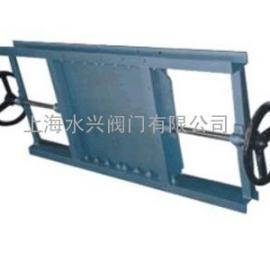 LZMS600x600双向手动螺旋闸门,手动闸板阀,手动插板阀