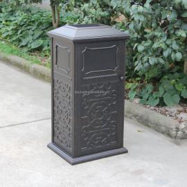铸铝垃圾桶_镀锌钢板垃圾箱_玻璃钢果皮箱厂家西安志诚塑木