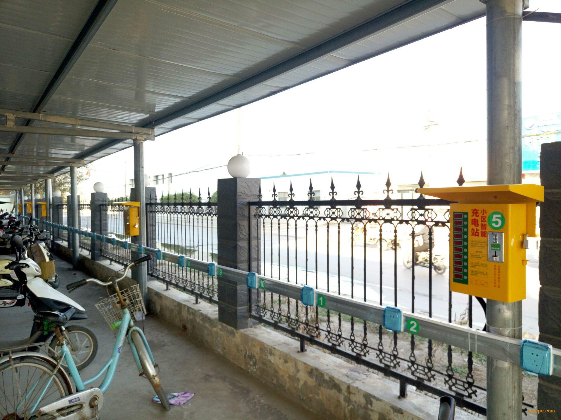 小区电动自行车充电桩_电动车充电桩图片