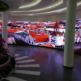 天花板安装LED高清全彩大屏/LED天幕设计制作厂家