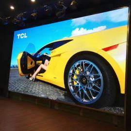 大型宴���d安�bP4高清LED全彩屏三十平米制作�M用