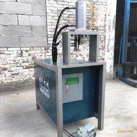 铝板打孔机楼梯扶手打孔切r口机方管开v口设备