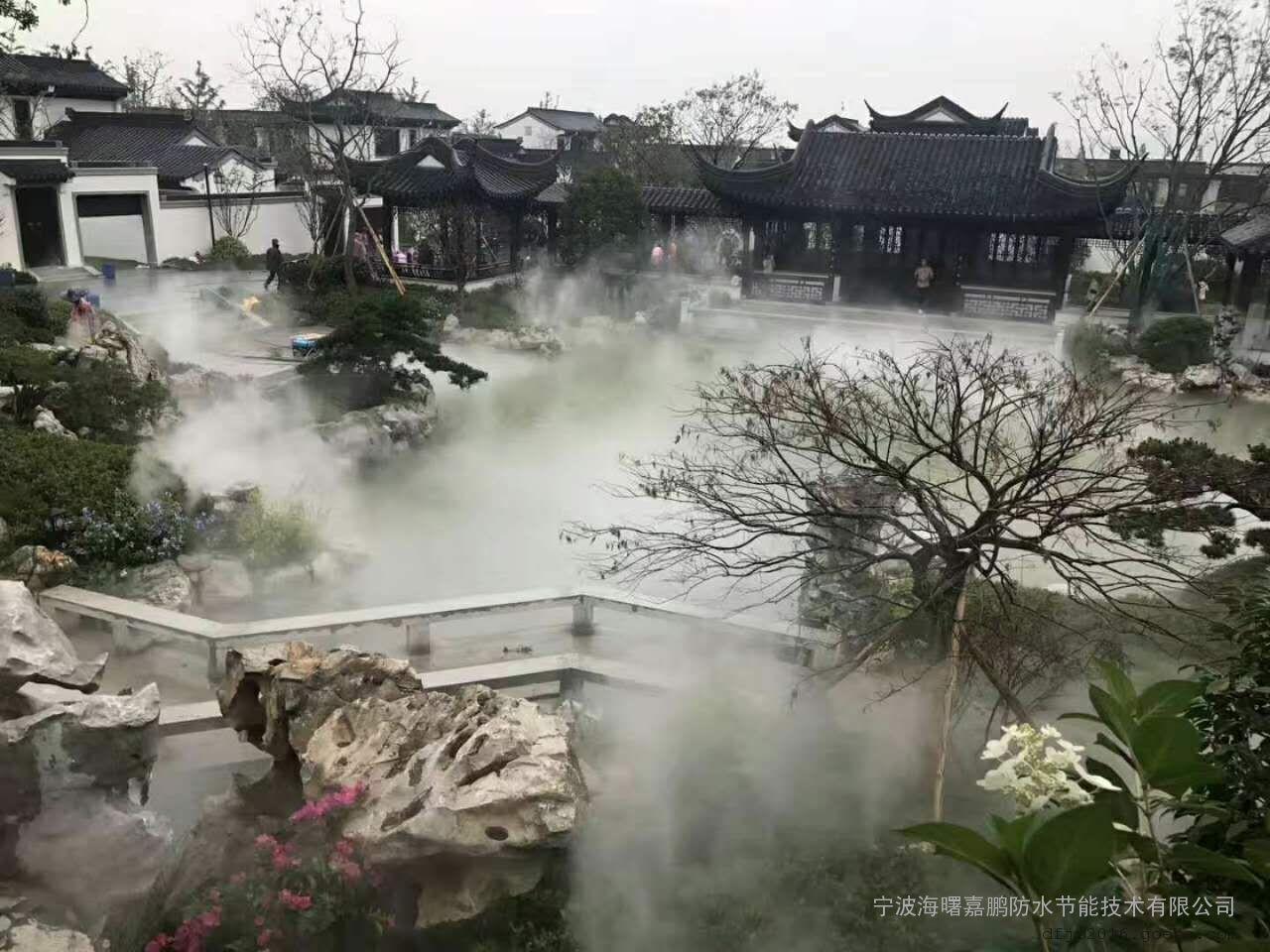 临沂喷雾景观工程-临沂景观造雾设备安装报价-嘉鹏2018
