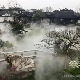 苏州园林喷雾造景工程,苏州假山喷雾景观,湿地公园人造雾