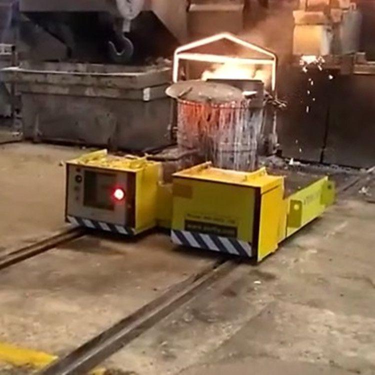 炼铁厂运输铁包钢包车高温防爆轨道蓄电池电动钢包车
