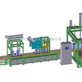 20升开口圆桶自动化工灌装设备涂料润滑油灌装机