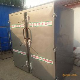 博远供应菏泽馒头蒸箱 不锈钢大型蒸房 蒸盘 带推车馍馍蒸房