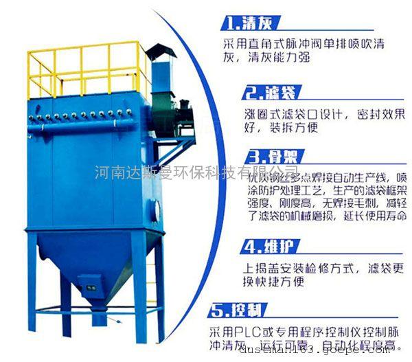 中央单机木工业收尘器布袋除尘器河南脉冲防爆环保设备dsm-64