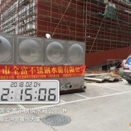 全富牌 珠海不锈钢方形水箱 珠海金喜悦大厦水箱服务商 消防水箱