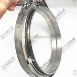 304不锈钢双备卡箍/v型槽桶箍/全钢冲压/精铸卡箍/快装抱箍 管卡