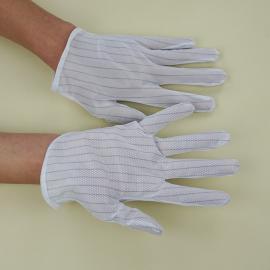 厂家批发防静电点塑手套 防静电防滑手套 防静电布点珠手套