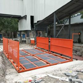河南工地专用洗轮机高压平板式洗车台基础图
