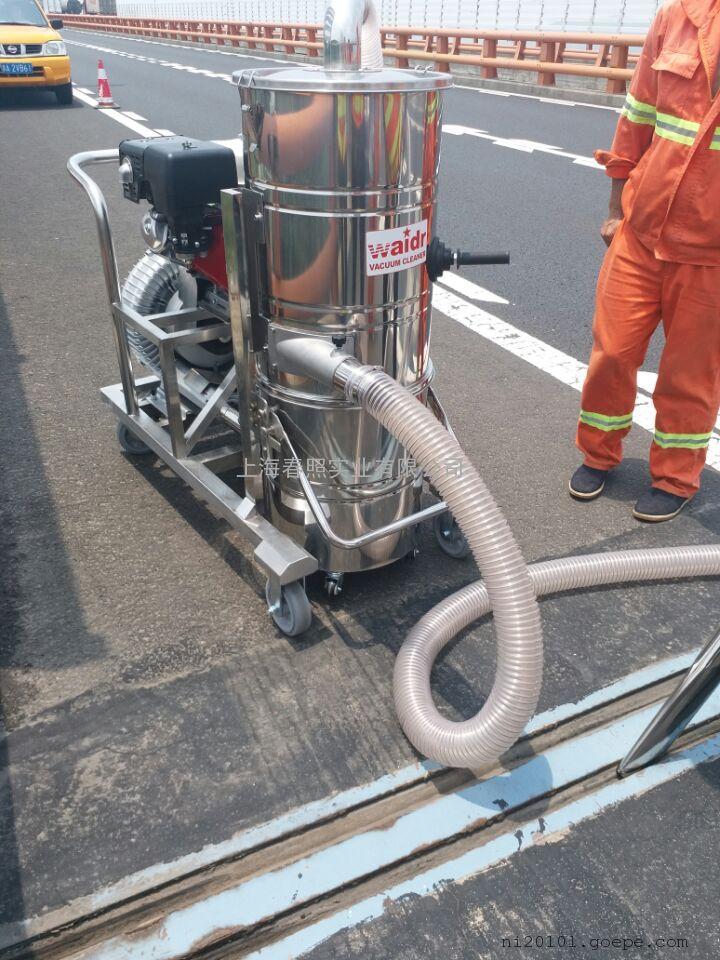 户外施工用威德尔汽油机工业吸尘器吸小石头用工业吸尘设备