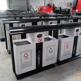 青蓝工厂直销市政街道垃圾桶 冲孔垃圾箱 钢板分类垃圾桶