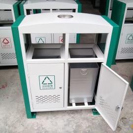 青蓝QL6203畅销款公园垃圾桶 大号果皮箱 钢板垃圾桶定制